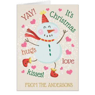 Cartão YAY sua foto do Natal para dentro