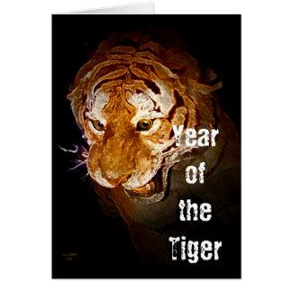 Cartão Yearr do tigre