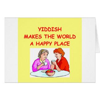 Cartão yiddish