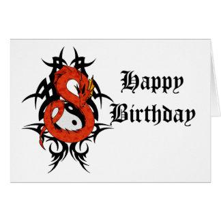 Cartão Yin yang do dragão 41