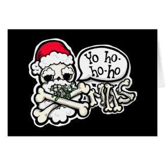 Cartão Yo ho ho ho! Natal de Merrrrrry, m'hearties!
