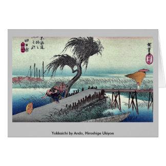 Cartão Yokkaichi por Ando, Hiroshige Ukiyoe
