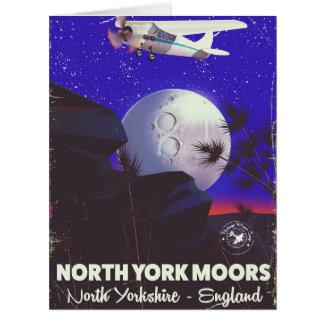 Cartão York norte amarra o poster de viagens de