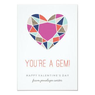 Cartão You're a Gem Classroom Valentine - Cobalt