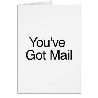 Cartão You've obteve o correio