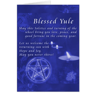 Cartão Yule abençoado