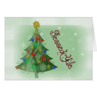Cartão Yule abençoado (cartão do feriado)