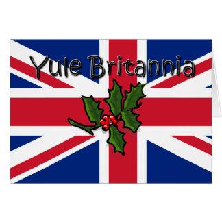 Cartão Yule Britannia