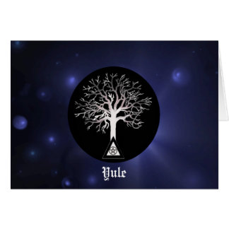 Cartão Yule-Deixe o brilho claro em Yule
