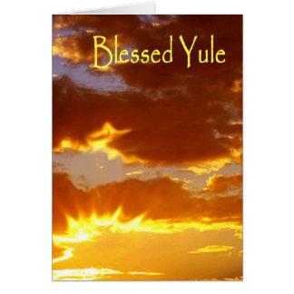 Cartão Yule, Yule abençoado