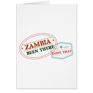 Cartão Zâmbia feito lá isso