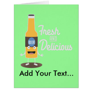 Cartão Zdm8l fresco e delicioso de Beerbottle