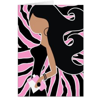 Cartão zebra cor-de-rosa longa do Fashionista 311-Spa