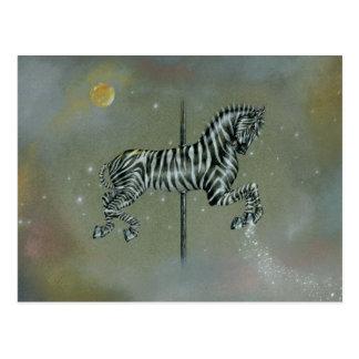 Cartão - zebra do carrossel