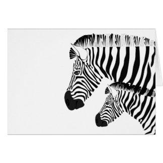 Cartão Zebra e bebê