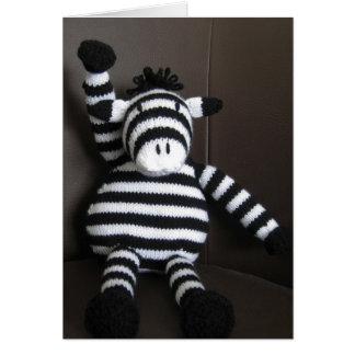 Cartão Zebra feita malha