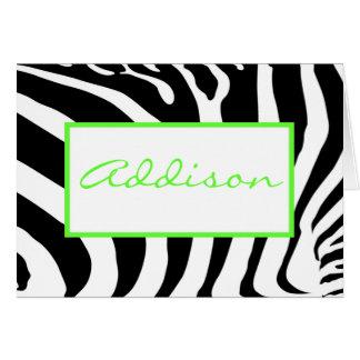Cartão Zebra no limão