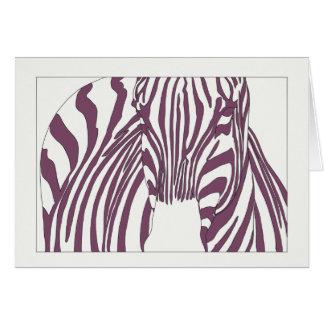 Cartão Zebra roxa