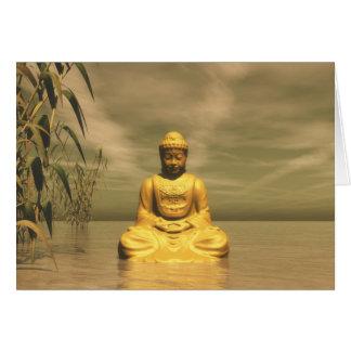 Cartão Zen buddha que meditating