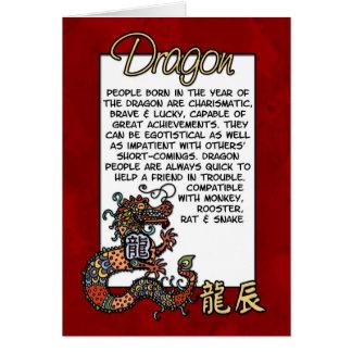 Cartão Zodíaco chinês - dragão