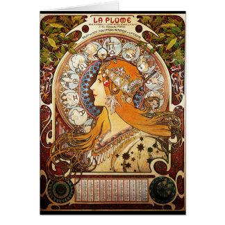 Cartão Zodíaco de Alphonse Mucha