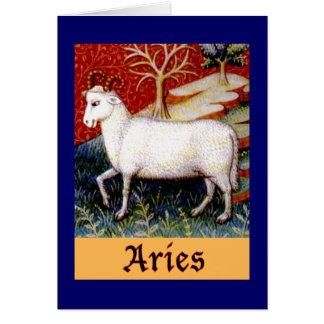 Cartão Zodíaco do Aries