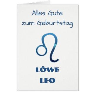Cartão Zodíaco Geburtstag de Blau Löwe Leo