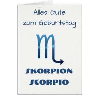 Cartão Zodíaco Geburtstag de Blau Skorpion