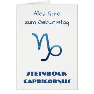 Cartão Zodíaco Geburtstag de Blau Steinbock
