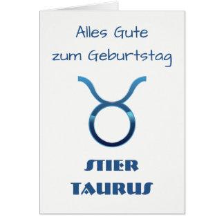 Cartão Zodíaco Geburtstag do Taurus de Blau Stier