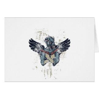 Cartão zombi do vôo com asas