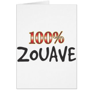 Cartão Zouave 100 por cento