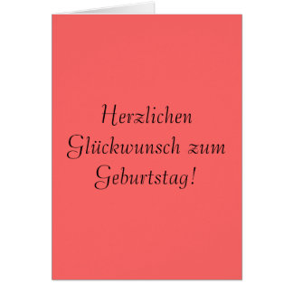 Cartão Zum Geburtstag de Herzlichen Glückwunsch!