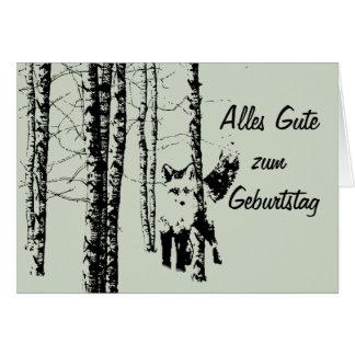 Cartão Zum Geburtstag Wald Fuchs de Alles Gute