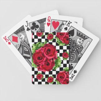 Cartas De Baralho Amor floral do buquê das rosas vermelhas