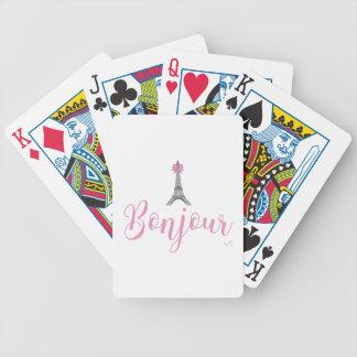 Cartas De Baralho Arco da torre de Bonjour-Eiffel original