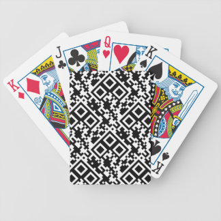 Cartas De Baralho Azulejo preto & branco