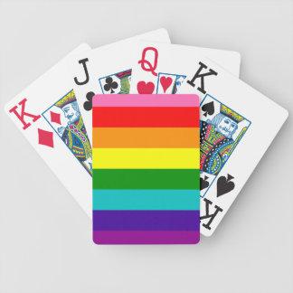 Cartas De Baralho Bandeira das listras do original 8 do orgulho gay