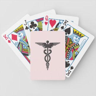 Cartas De Baralho Caduceus médico cor-de-rosa