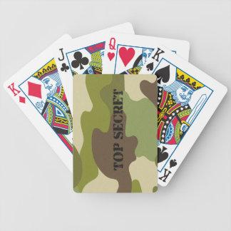 Cartas De Baralho Camuflagem dos cartões de jogo do póquer
