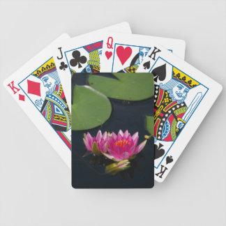 Cartas De Baralho Cartões de jogo cor-de-rosa brilhantes de Lotus
