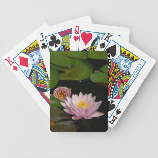 Cartas De Baralho Cartões de jogo cor-de-rosa de Waterlilies Lotus