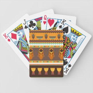 Cartas De Baralho Design africano do impressão do teste padrão do