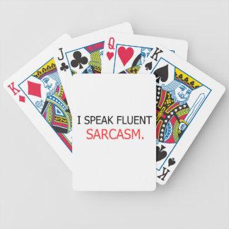 Cartas De Baralho Eu falo o sarcasmo fluente