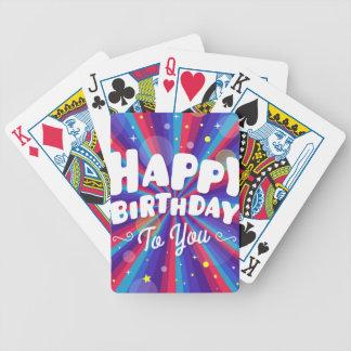 Cartas De Baralho Explosão de cor roxa feliz aniversário