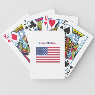 Cartas De Baralho Faz-me a bandeira americana feliz