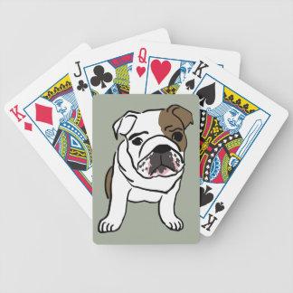 Cartas De Baralho Filhote de cachorro inglês personalizado do