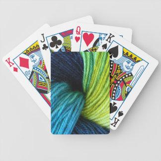 Cartas De Baralho Impressão do fio, fazendo malha, crochet