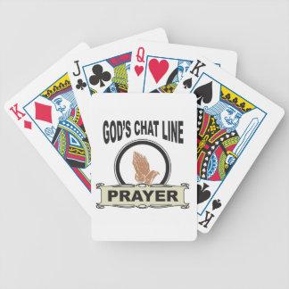 Cartas De Baralho linha oração do bate-papo dos deuses
