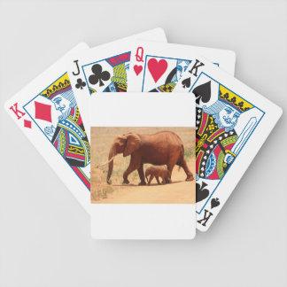 Cartas De Baralho Mamã e Cub do elefante